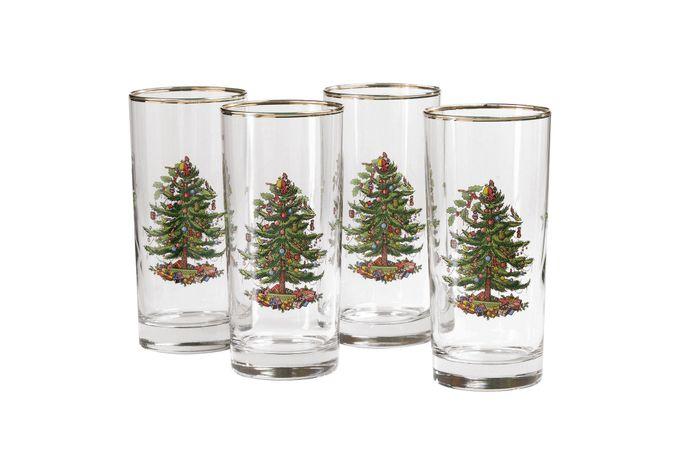 Spode Christmas Tree Highball Set of 4