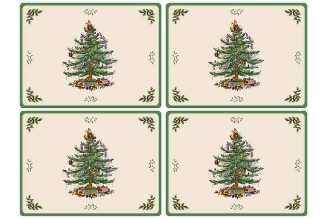 Spode Christmas Tree Placemat Set of 4