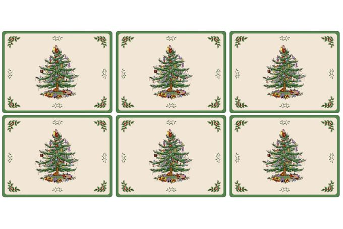 Spode Christmas Tree Placemat Set of 6