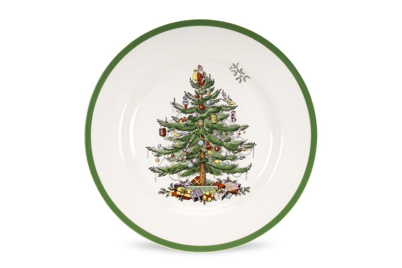 """Spode Christmas Tree Dinner Plate 10 5/8"""" thumb 1"""