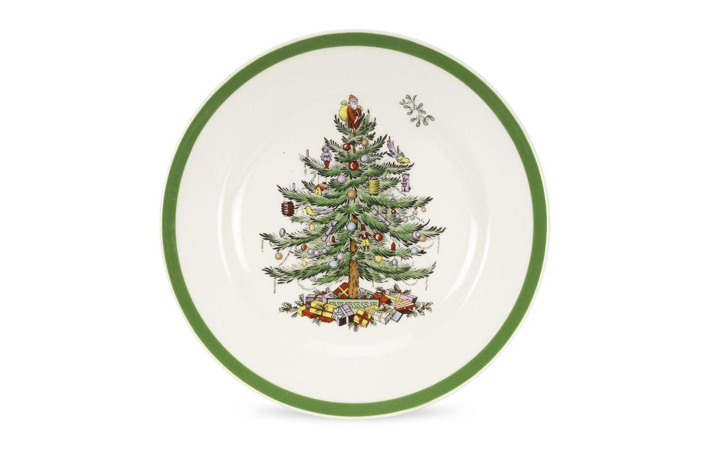 "Spode Christmas Tree Starter / Salad / Dessert Plate 7 3/4"" thumb 1"