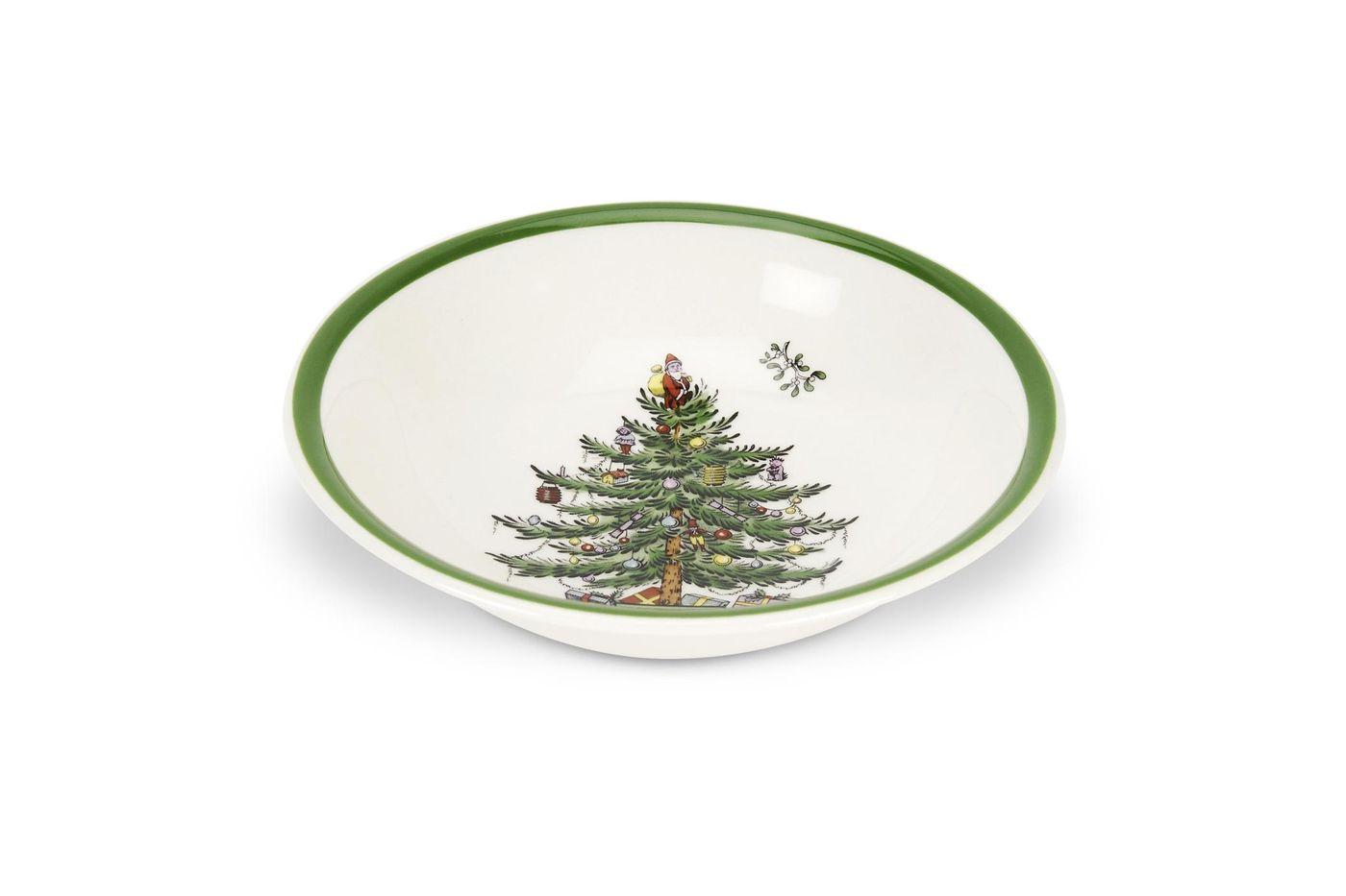 """Spode Christmas Tree Soup / Cereal Bowl 6 1/4"""" thumb 1"""