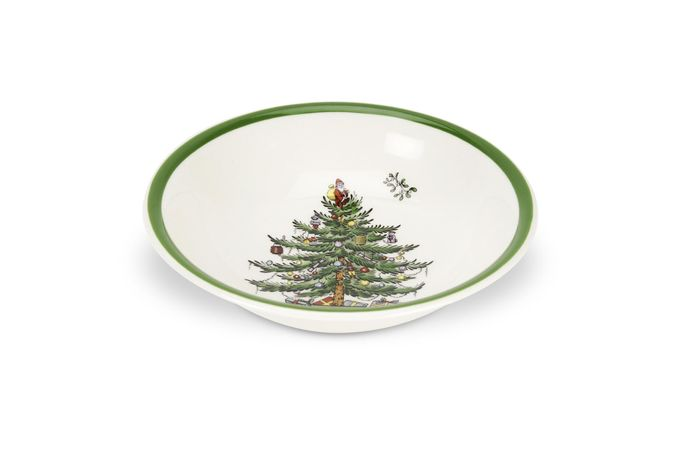 Spode Christmas Tree Oatmeal / Cereal / Soup 6 1/4""