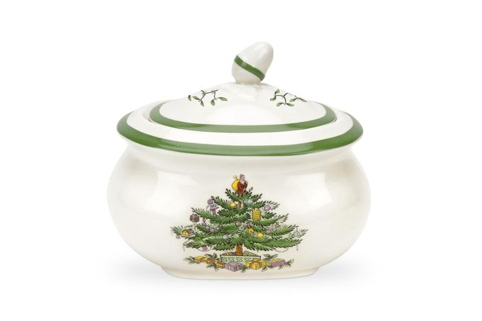 Spode Christmas Tree Sugar Bowl - Lidded (Tea) 4 5/8""
