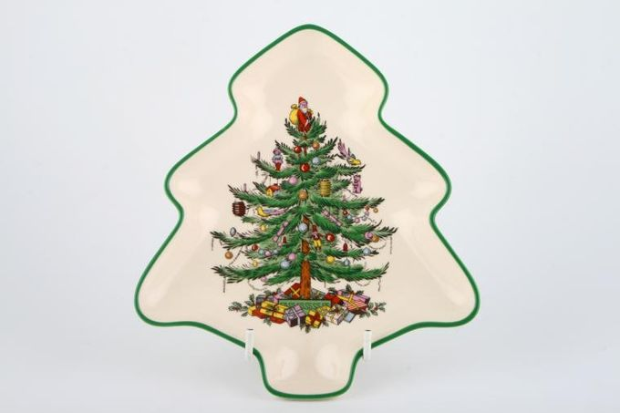 "Spode Christmas Tree Dish (Giftware) tree shaped 7 1/2"""