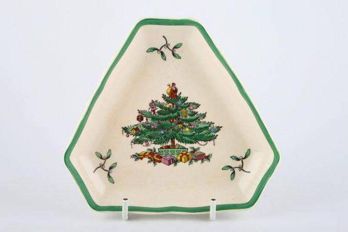 "Spode Christmas Tree Serving Tray triangular 5"""