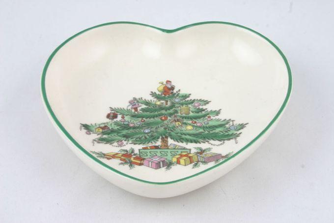 "Spode Christmas Tree Tray (Giftware) heart shaped 4"""