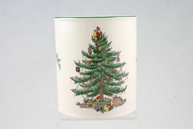 Spode Christmas Tree Money Box cylindrical 4 1/4 x 4 3/4""
