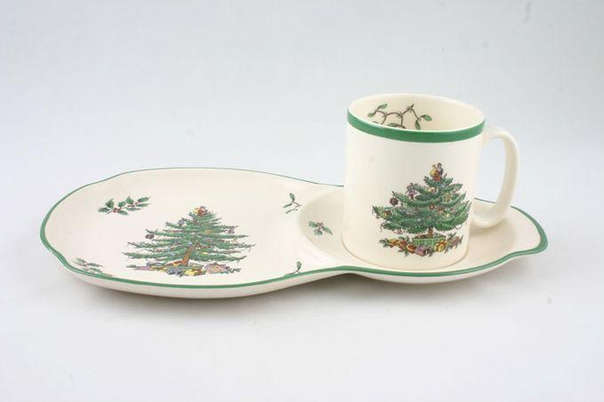 Spode Christmas Tree Serving Tray T.V. tray and Mug