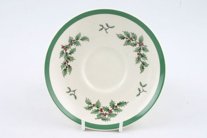 "Spode Christmas Tree Tea Saucer miniature 3 5/8"""