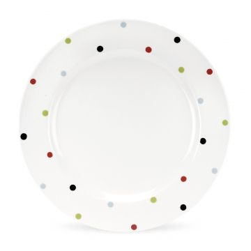 Spode Baking Days - White with Multi-colured Spots