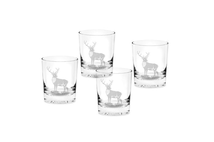 Spode Glen Lodge Set of 4 Tumblers Double Old Fashioned - Stag 0.35l
