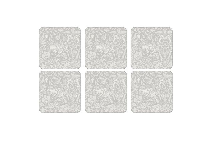 Spode Pure Morris Coasters - Set of 6 Strawberry Thief