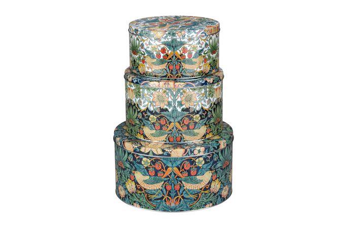 Spode Strawberry Thief Cake Tins (Set of 3) D26.5cm x H14cm, D21.8cm, H13cm, D20cm x H10cm