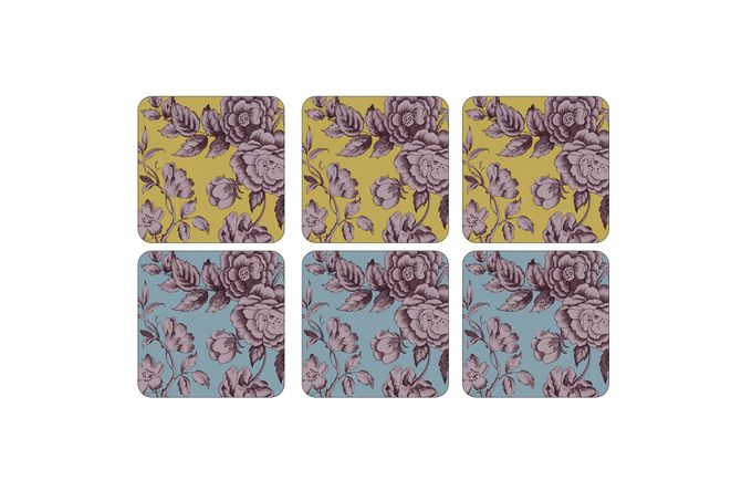 Spode Kingsley Coasters - Set of 6 10.5 x 10.5cm