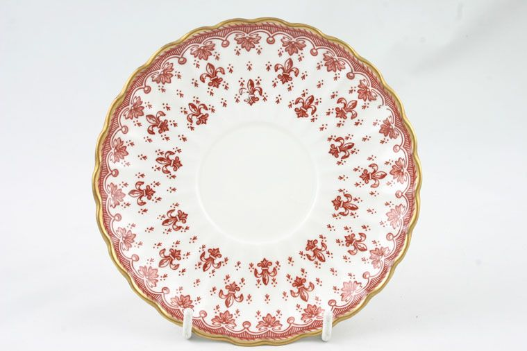 Spode - Fleur de Lys - Red - Tea Saucer - 2