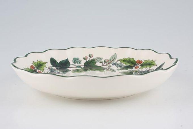 "Spode Green Garland Bowl (Giftware) Fluted 6 3/4"""
