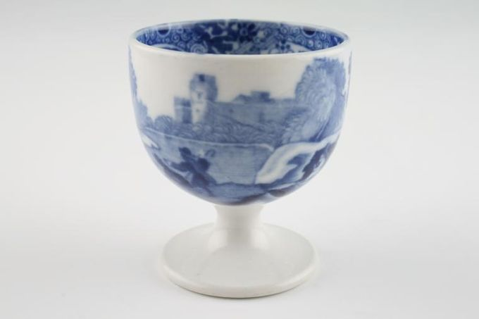 """Spode Blue Italian (Copeland Spode) Egg Cup Footed 1 7/8 x 2 1/8"""""""