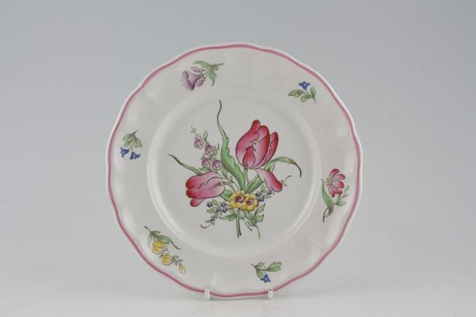 """Spode Luneville Breakfast / Salad / Luncheon Plate Flowers Vary - B/S No. 6770 8 3/4"""""""
