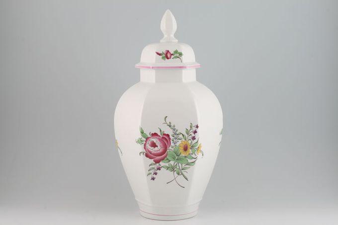 "Spode Marlborough Sprays Ming Vase Lidded 16"""