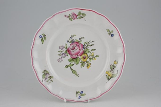 "Spode Marlborough Sprays Breakfast / Lunch Plate Flower A - Rose 8 3/4"""