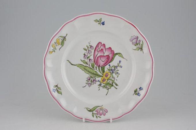 "Spode Marlborough Sprays Breakfast / Lunch Plate Flower B - Tulip. One tulip. 8 3/4"""