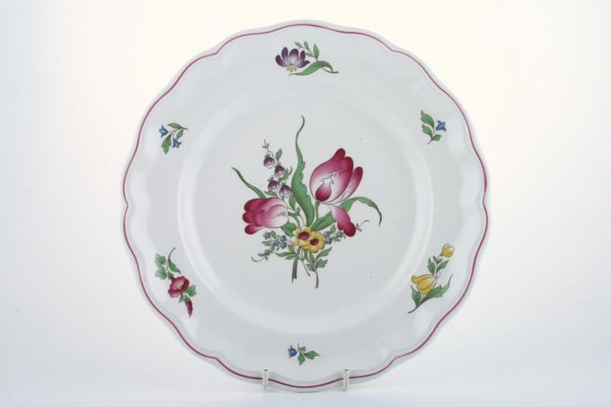 "Spode Marlborough Sprays Breakfast / Salad / Luncheon Plate Flower B - Tulip. 2 tulips 8 3/4"""