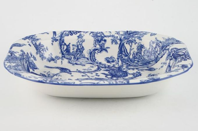 "Spode Provincial Garden - Blue Vegetable Dish (Open) 9 x 7"""