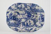 "Spode Provincial Garden - Blue Vegetable Dish (Open) 9 x 7"" thumb 2"