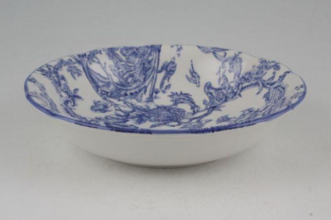 "Spode Provincial Garden - Blue Soup / Cereal Bowl 6 1/4"""