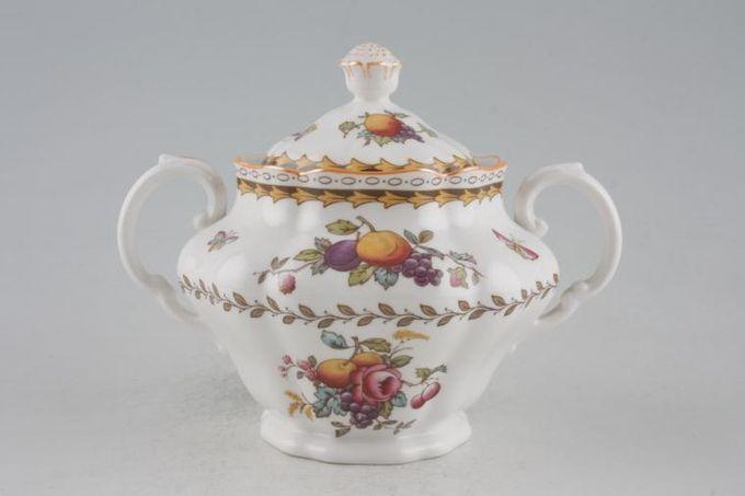 Spode Rockingham - Orange Edge - Y5194 Sugar Bowl - Lidded (Tea)