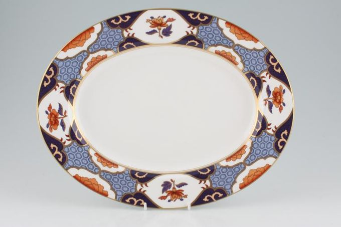 "Spode Shima Oval Plate / Platter Shima Border 12 7/8"""