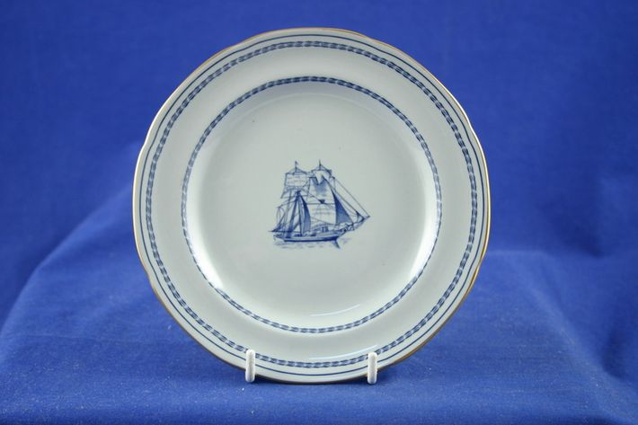 Spode Trade Winds Blue - Gold Edge