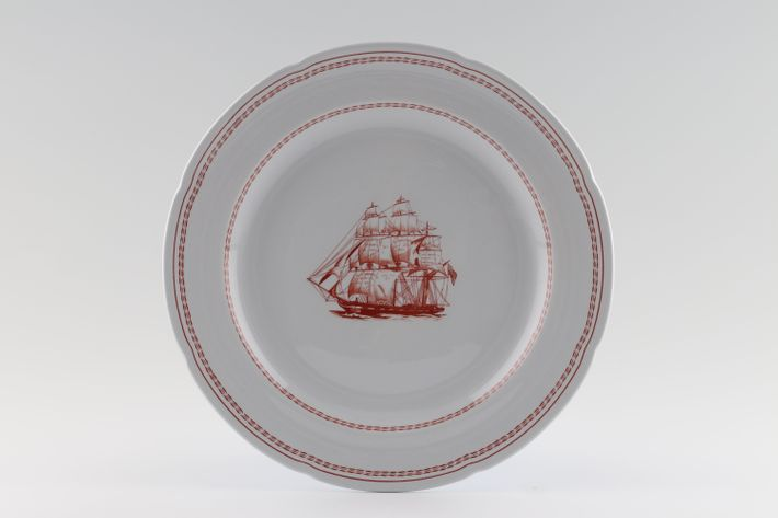 Spode Trade Winds Red - Plain Edge