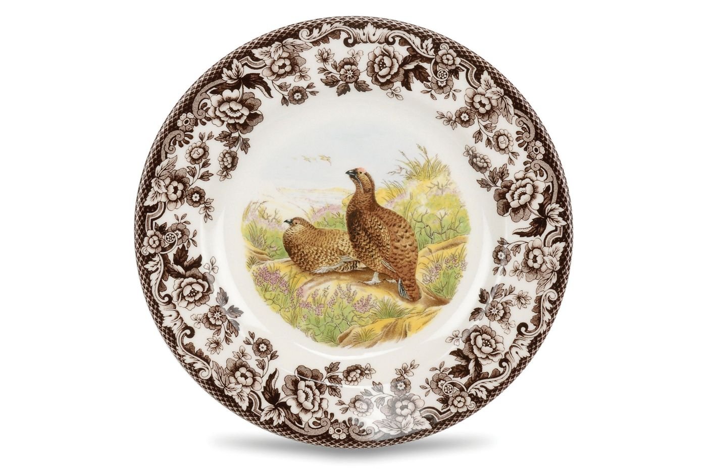 "Spode Woodland Starter / Salad / Dessert Plate Red Grouse 7 3/4"" thumb 1"