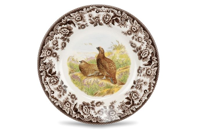 Spode Woodland Starter / Salad / Dessert Plate Red Grouse 7 3/4""
