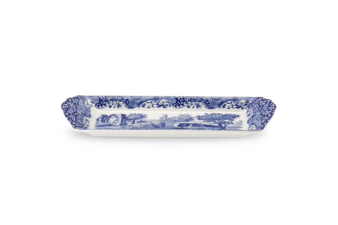 """Spode Blue Italian Tray (Giftware) Slim/ mint tray 9"""" thumb 1"""