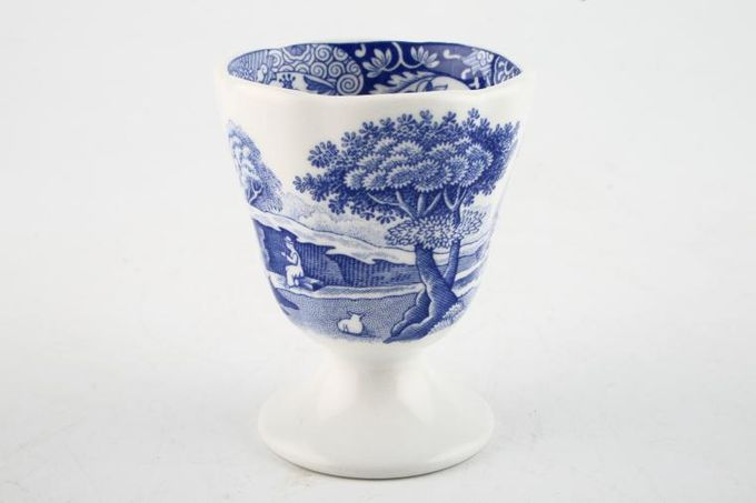 Spode Blue Italian Egg Cup Footed 2 x 2 3/8""