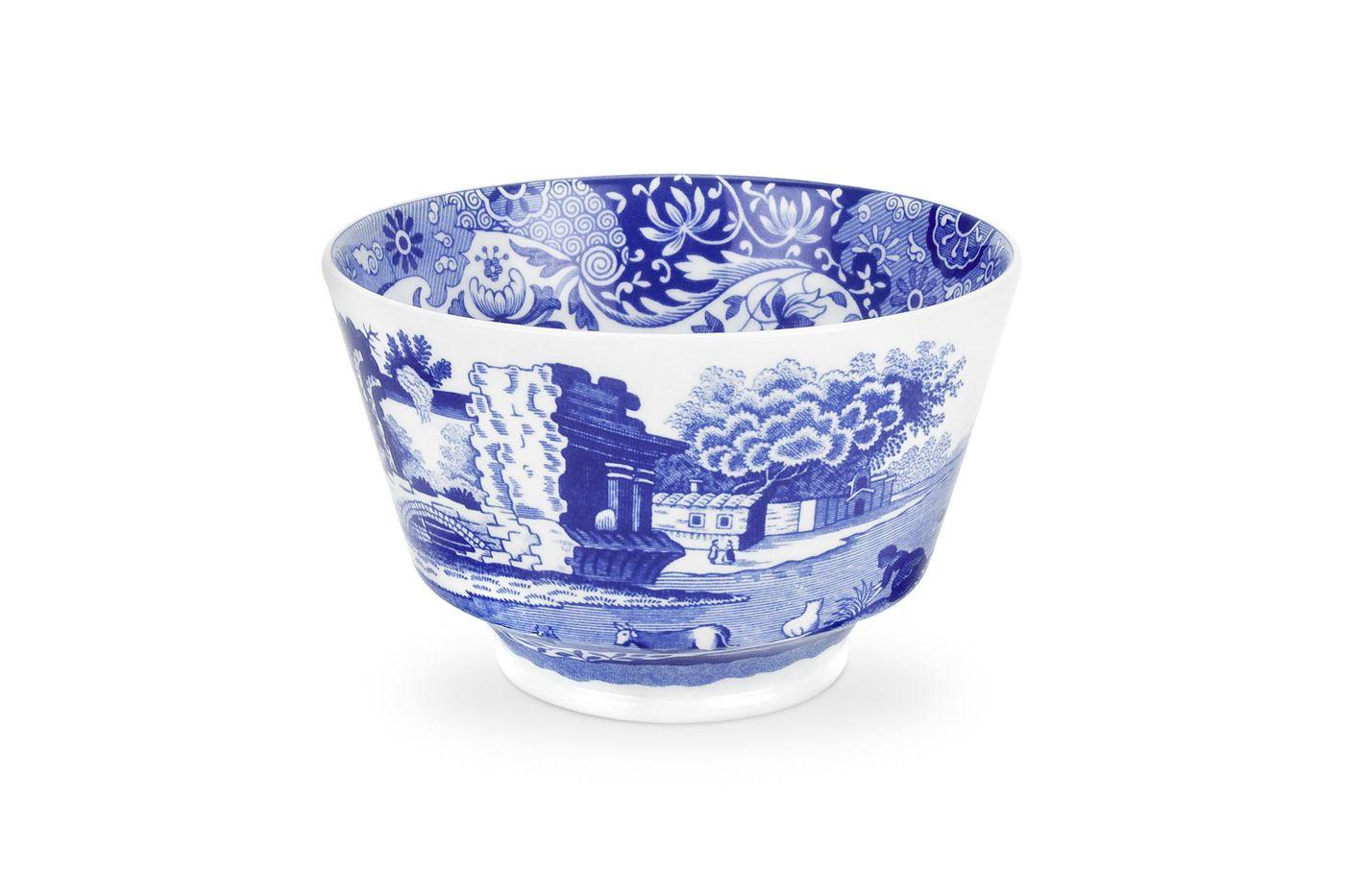 "Spode Blue Italian Sugar Bowl - Open (Tea) 4 1/4"" thumb 1"
