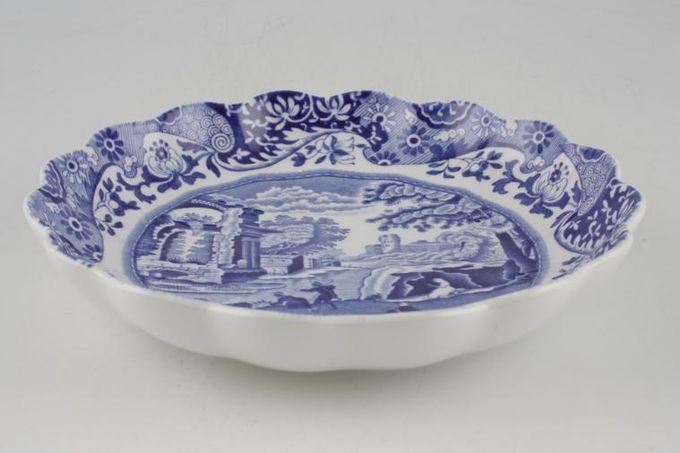 "Spode Blue Italian Bowl (Giftware) Shallow, wavy rim 6 1/2"""