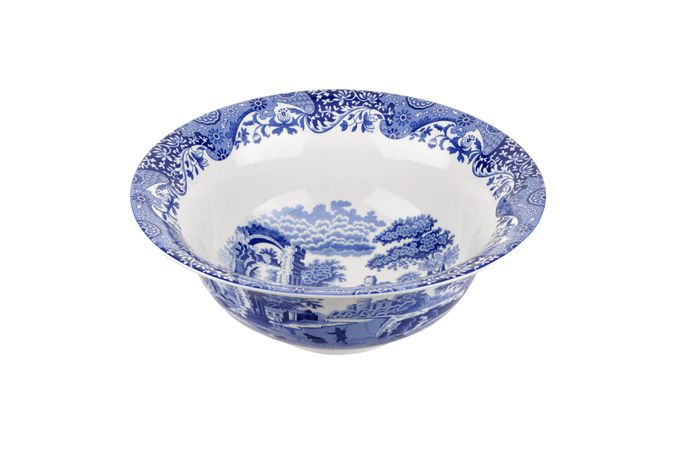 Spode Blue Italian Serving Bowl 200th Anniversary 12 3/4""