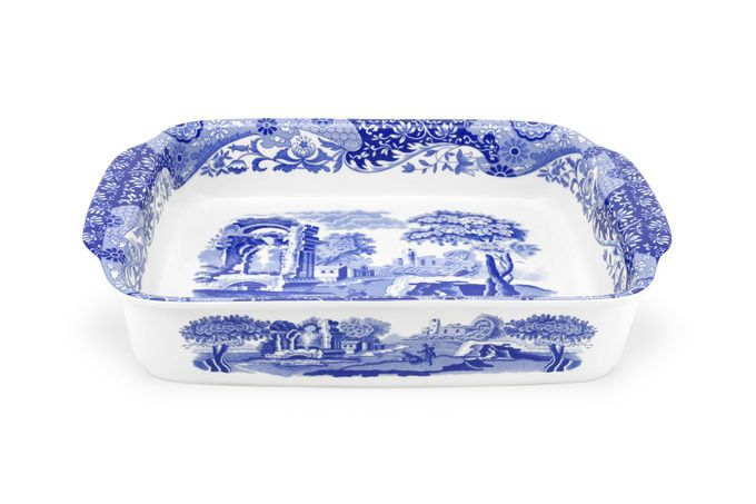 Spode Blue Italian Baking Dish Rectangular 15 1/2 x 11 5/8""