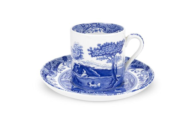 Spode Blue Italian Coffee/Espresso Cup and Saucer