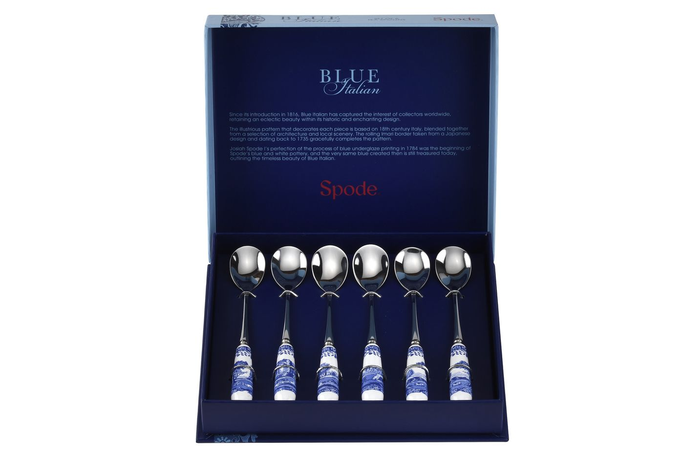 Spode Blue Italian Tea Spoon Set Set of 6 thumb 2