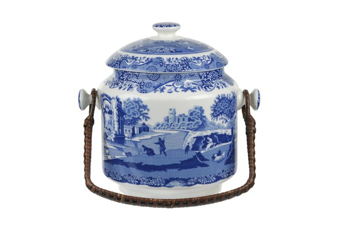 Spode Blue Italian Biscuit Jar + Lid 200th Anniversary