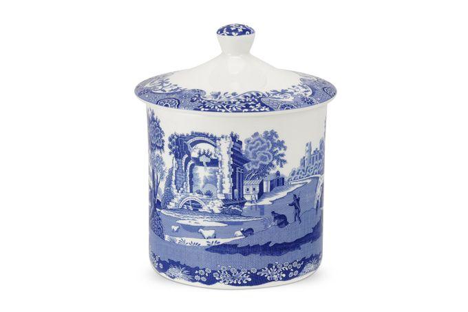 Spode Blue Italian Storage Jar + Lid