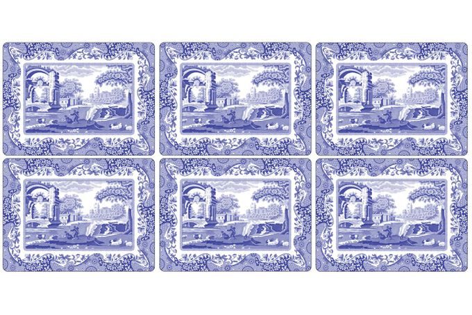 Spode Blue Italian Placemats - Set of 6