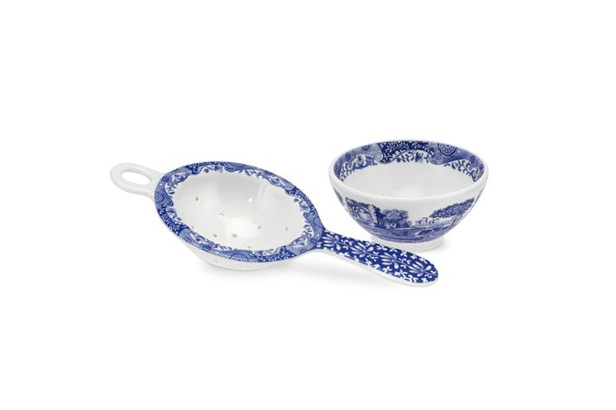 Spode Blue Italian Set (Tea) Tea Strainer and Rest