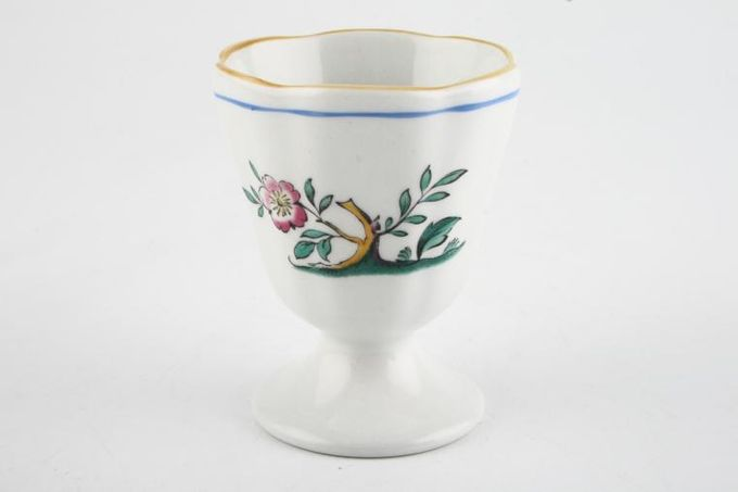 Spode Queen's Bird - Y4973 & S3589 (Shades Vary) Egg Cup Footed - B/S Y4973
