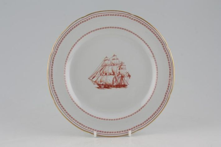 Spode Trade Winds Red - Gold Edge